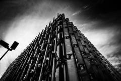 pyramid (Sandy...J) Tags: atmosphere atmosphäre architektur architecture sw schwarzweis wolken clouds blackwhite bw urban noir monochrom mood stadt city germany deutschland light licht rx100 sony photography