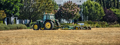 john deer (pbo31) Tags: livermore california alamedacounty eastbay nikon d810 color september summer 2018 boury pbo31 johndeer mow country field tractor plow cut green tow yellow