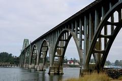 Yaquina Bay Bridge (chickadee23) Tags: yaquina bay bridge marina newport oregon jetty