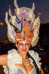 2010-02-06 Desfile de Llamadas en Montevideo (43) - Desfile de Llamadas (Parade der Rufe), Karnevalsumzug in Montevideo, Uruguay (mike.bulter) Tags: karneval carnival umzug parade karnevalsumzug desfiledellamadas frau menschen montevideo people southamerica suedamerika uruguay woman barriosur ury carnaval