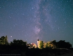Shooting Up (BryanNewland) Tags: lighthouse stars night milkyway pointiroquois baymills baymillsindiancommunity lakesuperior greatlakes michigan upperpeninsula up