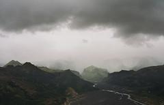 land of the gods (manyfires) Tags: iceland europe travel vacation moody stormy storm southerniceland southiceland valahnúksból thórsmörk goðaland krossá hike hiking film analog nikonf100 35mm mountains valley river landscape