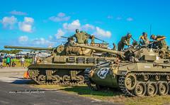 Tanks Crews (tclaud2002) Tags: tank army armytank crew tankcrews us battle reenactment worldwartwo wwii soldier soldiers canon machinegun weapons tracks treads uniform airshow stuartairshow 2017stuartairshow florida usa military