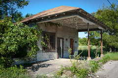 Abandoned Gas Station (swampt01) Tags: gas service old station oldbuildings abandoned historical history historic localhistory trees sky scenic
