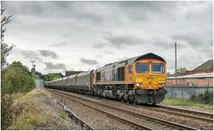 66723. 'Chinook'. (Alan Burkwood) Tags: retford groveroadcrossing gbrf 66723 chinook 6f71 imminghamcottamps loaded coal freight diesel locomotive