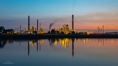 BP Refinery (Peet de Rouw) Tags: bp refinery europoort dusk sunset reflection water sky industrial industry peetderouw denachtdienst canon5dmarkiv canonef24105mmf4lisusm