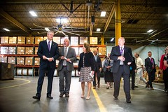 Visit to Westfield Gas & Electric Highlights Investments in Municipal Broadband Projects 08.23.18 (Office of Governor Baker) Tags: westfieldgasandelectric westfield gas electric tour gov charlie baker lg karyn polito walking