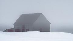 ile 2018-120 (Tasmanian58) Tags: fog shack barn orleans island quebec canada lens vintage russian helios444 helios sony a7ii winter snow