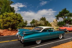 The Queen of Fin-land (Ken Hendricks and Larry Patchett) Tags: danburymint 1959 cadillac coupedeville 1956 linclon premier coupe 124scale model cars forcedperspective diecast harley earl