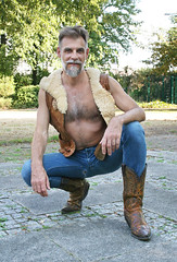 jeans and boots_4964 (picman1108) Tags: man male jeans boots cowboyboots sendra crotch chest hairychest beard bearded hunk