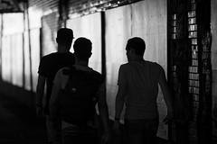 untitled three boys on their way to Bahnwaerter Thiel (NickVanzetti) Tags: streetphotography bahnwaerterthiel bahnwärterthiel