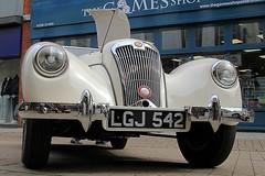 1950 Lea-Francis 2½ Litre LGJ 542 (BIKEPILOT, Thx for + 4,000,000 views) Tags: 1950 leafrancis 2½litre lgj542 aldershotcarshow aldershot hampshire uk cream car vehicle classic vintage automobile transport england britain