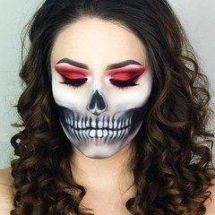 Awesome! By @giuliannaa (ineedhalloweenideas) Tags: halloween makeup make up ideas for 2017 happy night before christmas october 31 autumn fall spooky body paint art creepy scary horror pumpkin boo artist goth gothic amazing awesome
