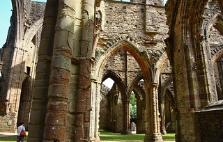 Tintern Abbey Textures and light.