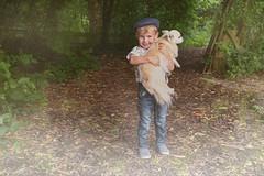 Boyhood (sophie_merlo) Tags: children dog boys kids portrait cute woods wood child boy