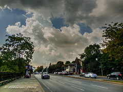 Cloudy Road (Oktay A) Tags: istanbul turkey tr sarıyer minote3 xiaomi hdr city sky pinetrees meşe orman forest büyükdere cityscape manzara road yol perspective