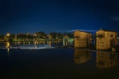 Zamora nocturna IV (Jaime A Ballestero) Tags: jaimea zamora noche nocturna duero río aceñas estrellas azul reflejo