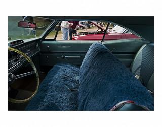 Pontiac Catalina with a shag carpet 'seat cover'