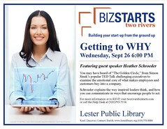 BizStarts Getting to Why (Lester Public Library) Tags: 365libs lesterpubliclibrary librariesandlibrarians lpl library lesterpubliclibrarytworiverswisconsin libraries libslibs libraryprogram libraryprograms business bizstarts bizstartstworivers entrepreneur tworiverswisconsin tworivers wisconsinlibraries wisconsin readdiscoverconnectenrich