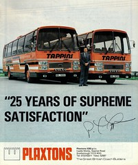 Tappins Volvo Plaxton Supreme advert (miledorcha) Tags: tappin tappins coaches travel tom wallingford didcot oxfordshire volvo b10m b10m61 plaxton supreme nbl903x nbl906x coachmart magazine advert cover may 1982 new coachbuilders psv pcv trade