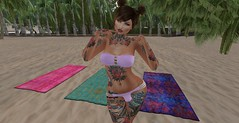 Nutmeg wonders what she should do first. (LorenWinstead In SL) Tags: futa futanari tgirl transsexual dickgirl beach summer bulge