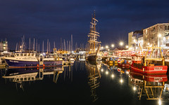 Blue Hour On The Barbican (Rich Walker Photography) Tags: ship plymouth plymouthbarbican water reflections reflection landscape landscapes landscapephotography ships boat boats harbour harbourside harbor devon night bluehour evening dusk canon england efs1585mmisusm eos eos80d