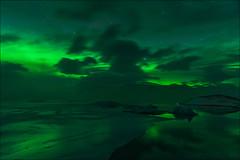 Jokulsarlon (Jose Cantorna) Tags: jokulsarlon glaciar ice hielo agua aurora boreal noche night iceland islandia paisaje landscape sky cielo