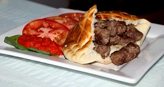 Chevapi (Prayitno / Thank you for (12 millions +) view) Tags: chevapi croatia croatian cuisine food cook kabob kebob bbq groundbeef ground beef minced flavor seasoned well good taste plate plating meal lunch dinner delicious pita bread special tomato chili sauce excellent