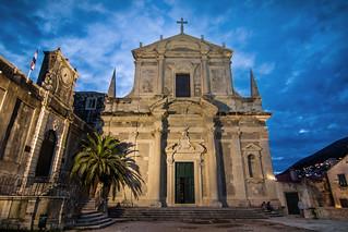 Church of St Ignatius at blue hour, Dubrovnik, Croatia