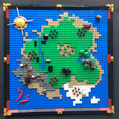 Fantasy Map (FxanderW) Tags: lego moc custom build map 3d model mini micro topography topographical fantasy myth mythological castle heroica medieval knights maps king kingdom compass