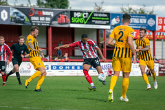 Altrincham FC vs Boston United - August 2018-138 (MichaelRipleyPhotography) Tags: altrincham altrinchamfc altrinchamfootballclub alty ball bostonunited community fans football footy goal header jdavidsonstadium kick mosslane nationalleaguenorth nonleague pass pitch preseason referee robins salfordcity save score semiprofessional shot soccer stadium supporters tackle team vanarama