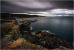 Stopped Time (Augmented Reality Images (Getty Contributor)) Tags: nisifilters benro canon cliffs clouds coastline harbour horizon landscape longexposure morayshire portknockie rocks scotland seascape water waves