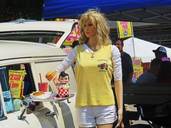 Blondes really do have more fun especially with the #HotRodClub. (kennethkonica) Tags: indianastatefair people animals faces indiana indianapolis indy canonpowershot canon usa midwest america hoosier magicmoment persons color animalplanet animal summer fun fairground fair