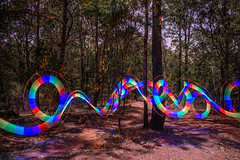 Dancing in the Moonlight (stephenk1977) Tags: australia queensland qld brisbane nikon d3300 night light painting art photography chromalight brushes writer transluscent rainbow concentrate c5