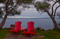Those red chairs! (hey ~ it's me lea) Tags: redchairs ridingmountainnationalpark manitoba clearlake parkscanada