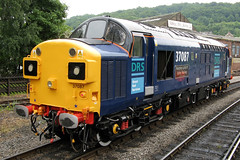 37087 'Keighley and Worth Valley Railway' (Cumberland Patriot) Tags: drs direct rail services carlisle kingmoor depot kd ee english electric type three type3 class 37 370 37087 dieselelectric loco locomotive motive power traction