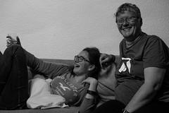Molly, Jodie and Aileen (timnutt) Tags: molly baby 35f2wr 35mm holiday wales llyn child monochrome lleyn acros fuji bw mono family blackandwhite children fujifilm