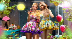 Party girls (meriluu17) Tags: belleepoque foxcity party glamaffair cute yard garden gardenparty barbecue sisters girls friends people portrait flower ballons balloon day light lantern