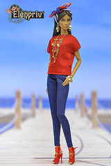 Stylish  Seduisante Elyse Elise Jolie doll (elenpriv) Tags: seduisanteelyseelisejolie fashionroyalty jasonwu doll integrity toys 12inch fr2 fashion elenpriv elena peredreeva handmade clothes dollclothes seacruise collection