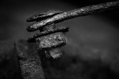 Rusty Details (wowafo) Tags: sonyalpha6000 blackwhite screw schraube metal metall verrottet verrostet rostig rusty