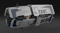 Munsin Class Escort Frigate (noblebun) Tags: lego homeworld space spaceship spacecraft render