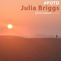 Julia Briggs POTD (iPhotographyCourse) Tags: photographytutorial potd sunset sun sunrise beach water mist fog dew pink sand figure person sillhouette seaside luxury island minimal landscape paradise iphotography iphoto photographer photoshop onlinelearing learnphotography learn onlinephotography elearning sky
