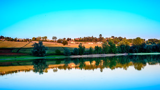 late evening at a local reservoir in Aquitaine