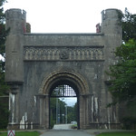 Penrhyn Castle - Grand Lodge and forecourt walling thumbnail