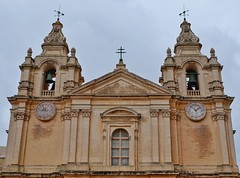 St Paul's Cathedral (Douguerreotype) Tags: cathedral church historic city buildings malta architecture clock