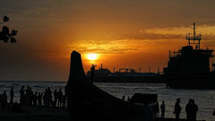 The twilight visit to fishing harbour !! (Lopamudra !) Tags: lopamudra lopamudrabarman lopa fishing harbour harbor arabian arabiansea trawler ship boat fisherman silhouette sunshine sun sunset sunlight sundown clouds cloud pensive twilight dusk evening nightfall afternoon sea ocean water waterscape wave sky skyscape inspiration inspiring thoughtful mystic mysterious kerala kochi cochin port colour color colours colourful beauty nature beautiful beach coast shore picturesque