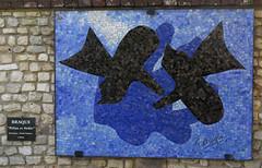 The castle of Vascoeuil, a unique place for contemporary art (Sokleine) Tags: braque georgesbraque mosaïque mosaics birds oiseaux bleu blue
