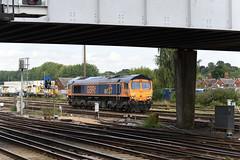 66737  Eastleigh  30/08/18 (Woolwinder) Tags: ukclass66 66737 gbrf eastleigh hampshire england uk lswr