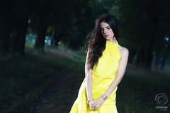 PROJECT 52 #35 - Yellow Raven (mkarwowski) Tags: people woman girl yellowdress park portrait canon eos 80d canoneos80d eos80d helios44 helios44m6 m42
