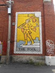 The Fool (navejo) Tags: montreal quebec canada fool wall painting art mural brick street yellow